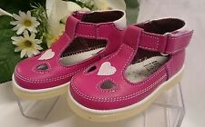 BABY Mädchen Festliche Kinder Schuhe MADE IN ITALY Gr 25 Pink LEDER Herz Glitzer