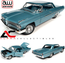 AUTOWORLD AMM1212 1:18 1962 PONTIAC ROYAL BOBCAT CATALINA TEST CAR AQUAMARINE