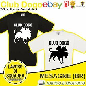 T-Shirt CLUB DOGO logo spacco tutto SE TU FOSSI ME pes maglietta maglia Uomo Man