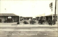 Tracy CA Tracy Motel Old Car c1930s Real Photo Postcard