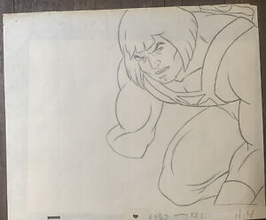 he-man masters of the universe original production drawing
