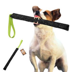 Strong K9 Dog Bite Training Tug Soft Fabric With Handle Schutzhund Bite Tug Toys