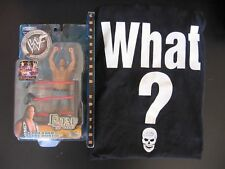 Stone Cold Steve Austin Fatal 4-Way Figure JAKKS & Original WHAT? T-Shirt Size L