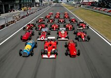 Ferrari Formula 1 Racing Cars Photo Poster Print ONLY Wall Art A4