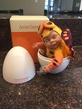 Anne Geddes Baby Doll In Egg Orange Butterfly New HTF