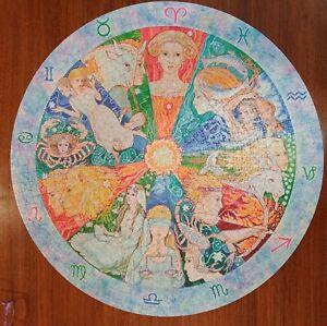 Star Signs Ravensburger 2008 Circular Jigsaw Puzzle 1000 piece complete Zodiac