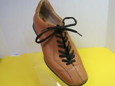 Prada Mens Natural Sport Shoes Brown Made In Italy Size 38 US Size 6.5