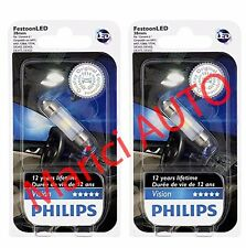2x Philips 38mm LED 6000k Super Bright WHITE 3423 Xenon Light bulb DOME Interior