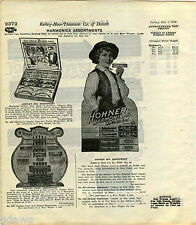 1916 ADVERT 3 PG Hohner Harmonica Boy Store Display Card Box Victoria Up To Date