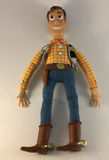 1995 Thinkway Toy Story Talking Woody Doll NO HAT Pull String Works Vintage