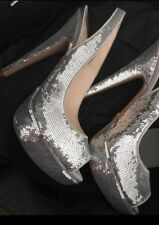 Prada Sequin Pump Heels Shoes Size 37 Try Code Pick5 For 5% Off