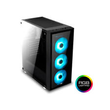 Aerocool - Quartzrgb Midi-tower negro carcasa de ordenador