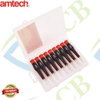 9Pc Precision Screwdriver Set Slotted Phillips & Torx Storage Case Amtech L0475