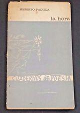 1964 La Hora Heberto Padilla Cuadernos de Poesia Cuba Cover Art by Fayad Jamis