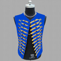 Men's Nightclub Bar DJ Costume Vest Sleeveless Jacket Gilet Stage Waistcoat Coat