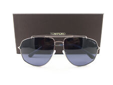 4de6c0ae53a9 Tom Ford Ft0496 Georges Sunglasses 59 14v Shiny Light Ruthenium Blue