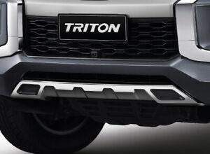 Mitsubishi Triton L200 Front Under Cover lower Silver Lip Bumper Pick 4 2018-21