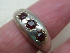 Garnet Silver Vintage Fine Rings (1980s)