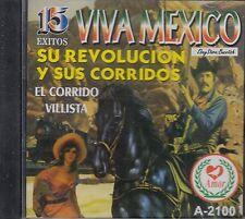 Los Hermanos Banda Viva Mexico Su Revolucion Y Sus Corridos CD New Nuevo Sealed