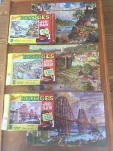 Job lot 3x vintage jigsaws. Famous Bridges by Tower Press. 240 pieces. Bundle