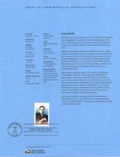 #0232 37c Irving Berlin Stamp #3669 Souvenir Page