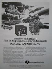 3/1980 PUB ROCKWELL COLLINS AVIONICS ARC-186 (V) VHF FM RADIO USAF GERMAN AD