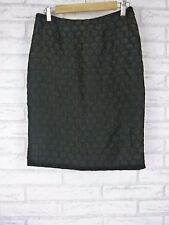 MAEVE BY ANTHROPOLOGIE Sz 8 Black  Textured Material Circle Skirt Pencil Style