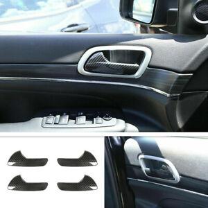 For Dodge Durango 2015-2021 ABS Carbon Fiber Interior Door Handle Cover Trim 4P