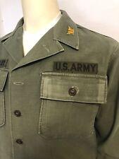 Vintage Vietnam Era 60's U.S. Army Mens Military Sateen Jacket Sz Medium