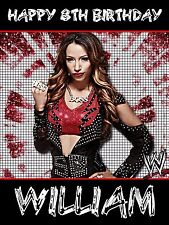 Wrestling birthday cards stationery for children ebay wwe divas wrestling sasha banks personalised birthday card large a5 bookmarktalkfo Image collections