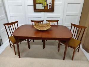 McIntosh Extending Teak Table 4 Chairs Mid Century Retro Vintage