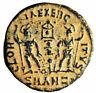 """Constantius II AE15 """"GLORIA EXERCITVS Soldiers"""" Antioch RIC 49 gVF Desert Patina"""