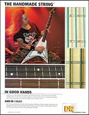 Children of Bodom Alexi Laiho DR Color Guitar Strings ad 8 x 11 advertisement
