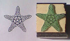 Celtic Style Yule Pentagram/Pentacle Beautiful Wiccan Holiday Rubber Stamp
