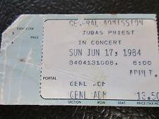 Judas Priest ticket stub June 17 1984 Capital Centre Great White