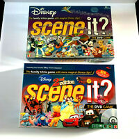 Disney Scene It DVD Trivia Board Game Mattel 100% Complete 1st and 2nd Edition