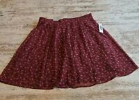 Womens Old Navy Multi Color Maroon Skirt Size Small New With Tags