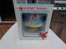 Vintage 1997 Goodnight Paddington Bear nursery light lamp brand new in box