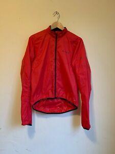 VAUDE Mens Lightweight Cycling Wind Jacket - Red Orange - EUR48 / Small - EUC!