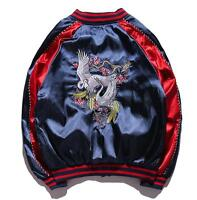 Mens/Womens Unisex Embroidered Bomber Sukajan Jacket Coat Premium Outerwear Ths1