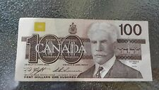 Canadian $100 Dollar Bank Note Bill BJM3973513 Circulated 1988 Canada