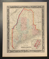 "Mitchell: ""County Map of the State of Maine,"" 1860"