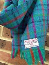 Luxury Harris Tweed Wool Scarf Teal Green Purple Pink Blue Lime Punk Check