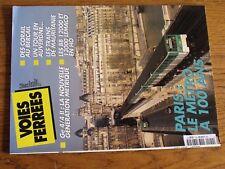 $$$ Revue Voies Ferrees N°120 Metro paris 100ansGe 4/4 IICorailBB 12000