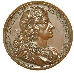 CHARLES II 1685, 41mm MEMORIAL MEDAL, FOR KINGS & QUEENS OF ENGLAND SERIES 1731