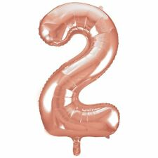 """34"""" Giant Rose Gold Foil Number 2 Balloon"""