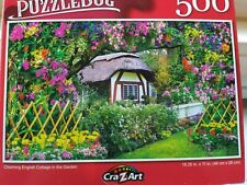 New 500 Piece Jigsaw Puzzle (Charming English Cottage in Garden)
