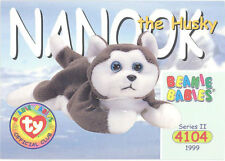 Ty Beanie Babies Bboc Card - Series 2 Common - Nanook the Husky - Nm/Mint