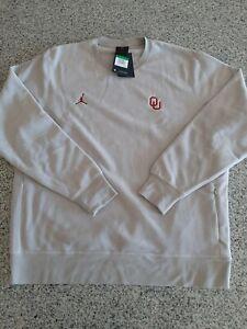 Nike Jordan Therma Fleece Oklahoma Sooners Pullover Crew Men Size XL AQ8995-052