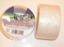 Clear All Weather Glass repair tape.Polythene,Sheeting,Greenhouse,Car Lamps ETC